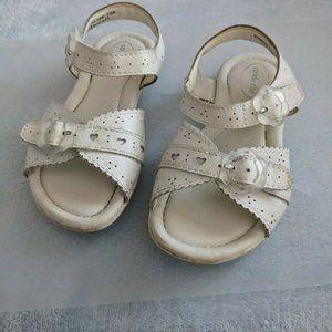 Stride Rite White Leather Sandals 9.5w